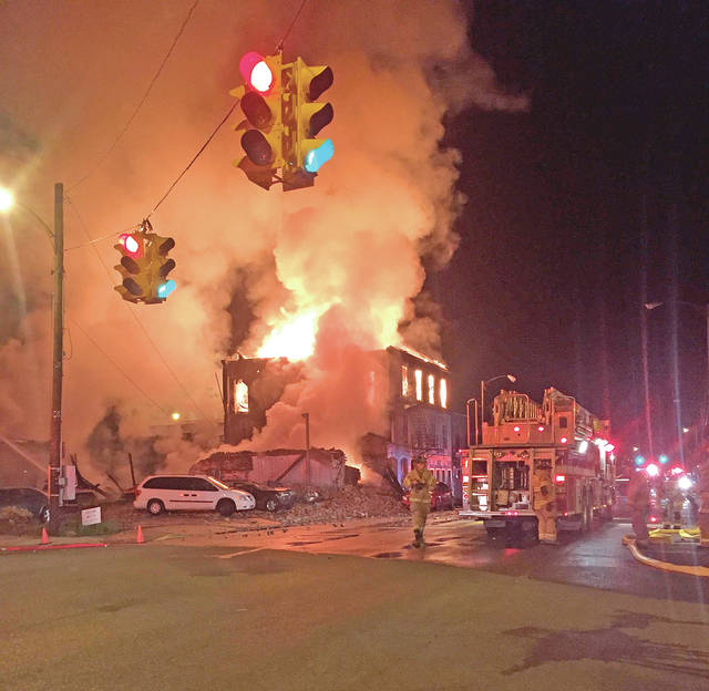 "This fire early Tuesday in the 100 block of Main Street in Bainbridge has been ruled ""a human act,"" according to several news outlets."