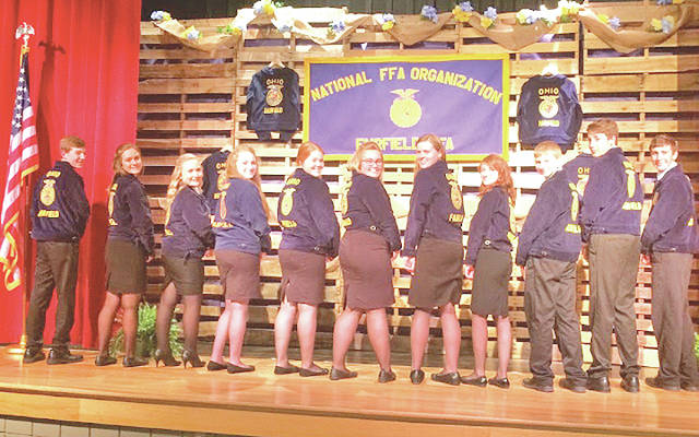 The 2018-19 Fairfield FFA Officer Team as pictured, from left, Thomas Fraiser, Rachel Schuler, Alexis Tompkins, Ally Davis, Allyce McBee, Bre Flint, Paige Teeters, Teigan Thackston, Spencer Crothers, Brayden Grooms and Kohler Bartley.