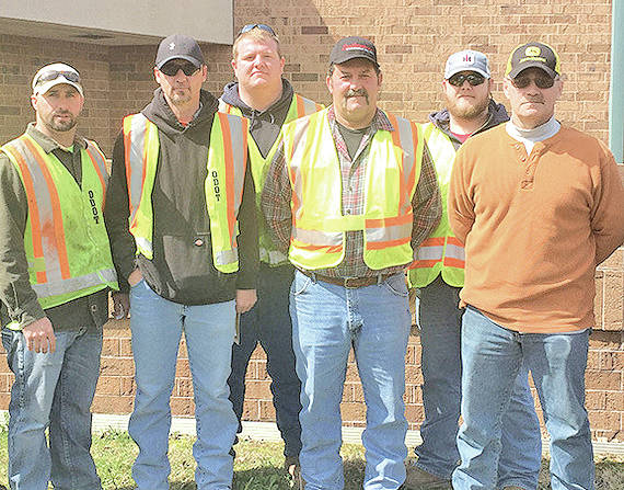 Pictured are the Top 6 Truck Finalists in ODOT District 9's Roadeo competition. They are (l-r) Jon Kelch (Highland); Elza Taylor (Adams); John Hettinger (Scioto); Garold Cox (Lawrence); Jonathan Leisure (Ross); and first-place winner Chris Fulton (Highland).
