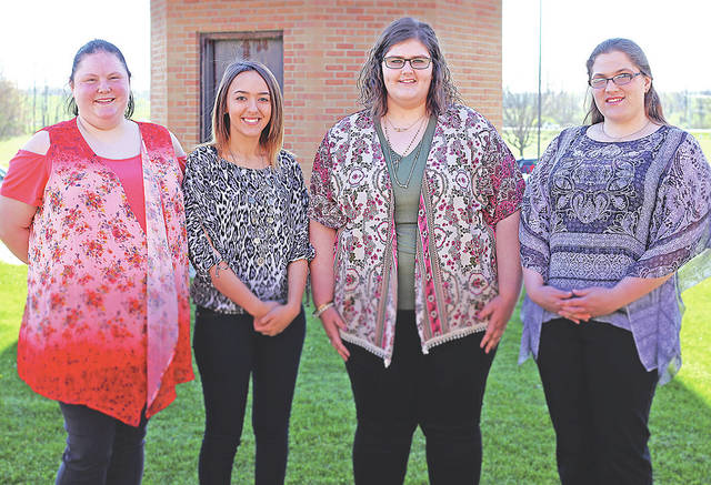 The 20th graduating class of Southern State Community College's Billing & Coding Specialist program included, from left, Daniel Marsh, Kaitlyn Deaton, Abigail Haught and Sarah Stemann.