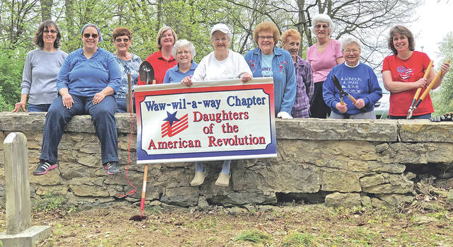 Pictured, from left, are Alice Teeters, Hannah Rach, Jane Stowers, Pat Young, Tonia Edwards, Lois McLaughlin, Janet Florence, Andrea Schneider, Joan Gale, Rosemary Ryan and Cara Pfeifer. Taking the picture was guest and helper Claudia Fuller.