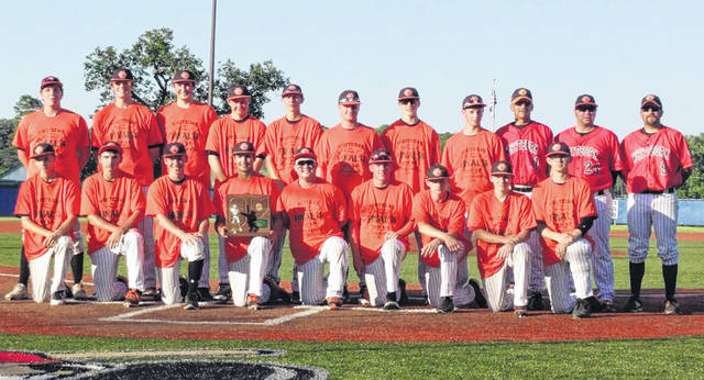 The Whiteoak Wildcats pose for a team picture at Beavers Stadium in Lancaster on Friday following their thrilling 5-4 win over the Eastern Eagles to win the D IV Regional Championship and advance to the Final Four.