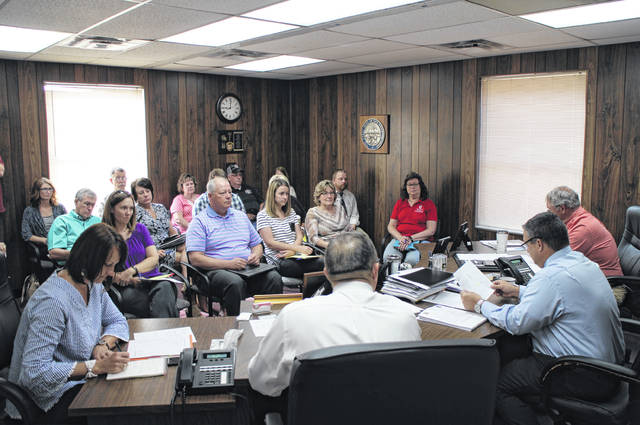 Highland County department heads and representatives meet Wednesday with the Highland County Board of Commissioners to discuss budgets.
