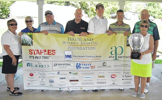 Pictured L to R: Cathy Jones, Foundation Director, Pam Limes, Foundation Secretary, Lance Smaltz, John Houser, Nick Salsgiver, Chad Wilson, Foundation Member, Rich Graves, Foundation Member, and Vicki Rhude, Foundation President.