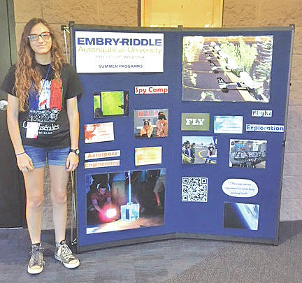 Hillsboro High School junior-to-be Madelein Lueders spent time this summer at the Embry-Riddle Aeronautical University in Prescott, Ariz.