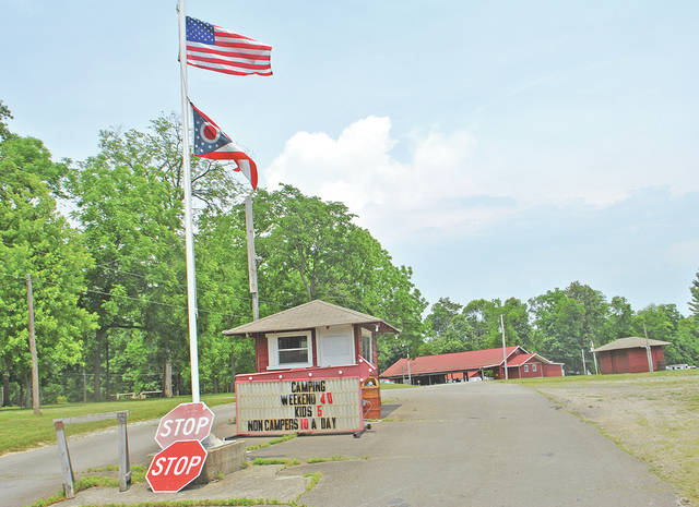 The entrance to the park at AMVETS of Hillsboro Post 61 is shown in this photograph taken Friday afternoon.