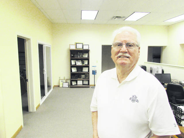 Former publisher Phil Roberts is shown during a recent visit to the offices of The Times-Gazette.