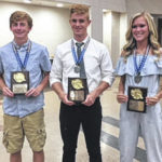 Matthew Mangus, Austin Goolsby and Chayden Pitzer recognized as Southeast District Track and Field Athletes of the Year