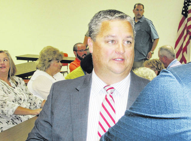 Friends, co-workers and elected officials gathered in a basement meeting room at the Highland County Administration Building Tuesday afternoon for a reception honoring Shane Wilkin, who is ending a decade on the county commission to take Cliff Rosenberger's seat in the Ohio House of Representatives.