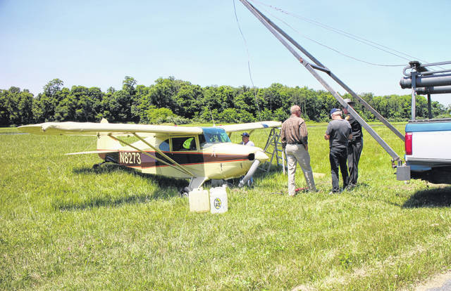 This plane was the only aircraft involved in a landing accident Friday at the Highland County Airport near Rocky Fork Lake.