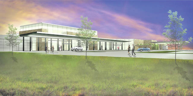 This artist's rendering shows the exterior of the new Adena Regional Medical Center Emergency Department.