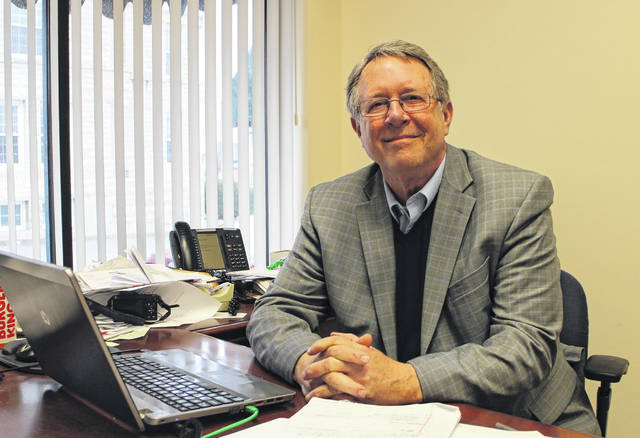 Gary Abernathy, current Times-Gazette publisher and editor-in-chief, is shown in his office earlier this year.