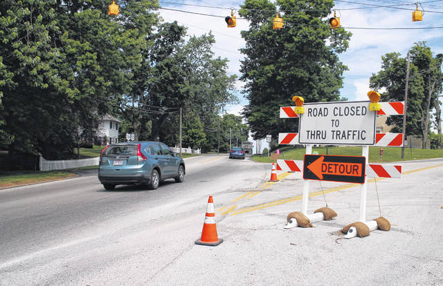 Marshall Pike traffic is being re-routed around construction in the area via Chillicothe Avenue and Bowers Avenue.