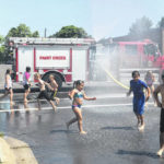 Enjoying 'water day' in Hillsboro, Greenfield