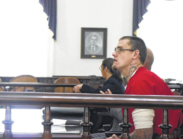 Jeffrey Ryan Holsinger sits in Highland County Common Pleas Court last year. Holsinger faces capital murder charges in Ross County.