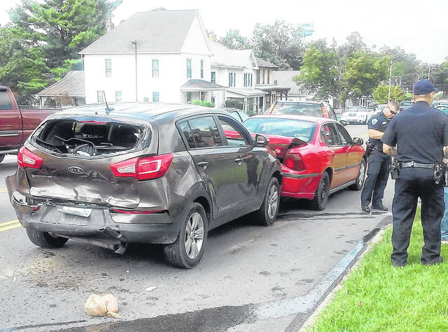 No one was hurt, but two vehicles had to be towed from the scene following a four-vehicle collision Monday in Hillsboro. The accident occurred on North High Street across from the Hillsboro Post Office at about 2:45 p.m. No other details were available Monday from the Hillsboro Police Department.