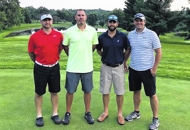 The Hillsboro High School boys basketball program hosted its 9th Annual Alumni golf outing at the Hillsboro Elks Golf Course on August 4, 2018. Twenty-two teams of four participated in the event and the winning team, Team Merchants National Bank, consisted of Chris Fauber, Brett Prince, Drew Balser and Matt Garman. The Hillsboro Athletic Department would like to thank all of those individuals who played in the outing, as well as, those businesses that were hole sponsors and prize donors. With the generous support of the Hillsboro community, the event continues to be a success each year.