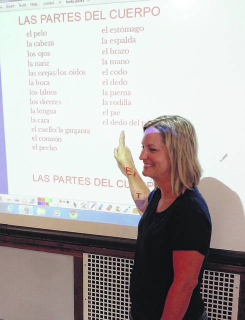 Cassie Hutchinson embraces technology in the classroom while teaching Spanish at McClain High School.