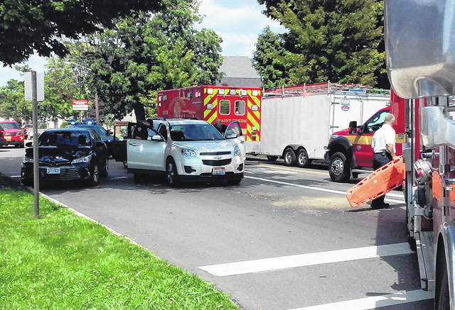 Three people were transported to the hospital with minor injuries sustained in a four-vehicle crash Thursday afternoon on North High Street in Hillsboro. Police and emergency medical crews from the Paint Creek Joint EMS/Fire District responded to the chain collision at about 2:45 p.m. near the intersection of North High and Beech streets. Southbound traffic was sluggish for about 45 minutes as police redirected the traffic flow. Two of the four vehicles were able to be driven from the accident scene. No further information was immediately available.