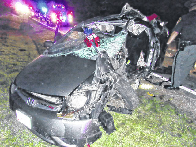 An 18-year-old Leesburg resident was critically injured in this crash Thursday evening in Fayette County.