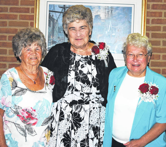 These three women joined the ranks of 110 others in the Highland County Women's Hall of Fame during a ceremony held Tuesday evening at Southern State Community College in Hillsboro. From left, they are Luise Curtis, Nancy Baldwin and Rosemary Ryan.