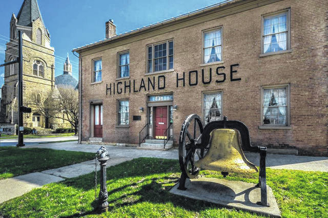 The Highland House Museum in Hillsboro will be open from 1-4 p.m. Sept. 15 as part of an Ohio Open Doors event.