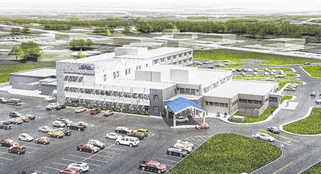 This artist's rendering shows Highland District Hospital as it will look following an expansion and renovation project that is expected to start next month and be completed by the summer of 2020.