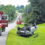 No injuries in rollover wreck north of Hillsboro