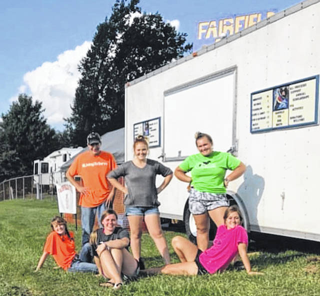 The Fairfield FFA is set up at the Highland County Fair on top of the hill behind the bleachers at the tractor pull area. They are selling lamb brats, pop, candy and more. All the the proceeds will go to the chapter and help fund activities all year.