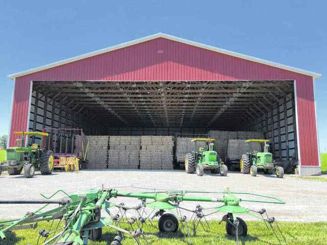 This photo shows part of the Karnes Hay Farm on Karnes Road.