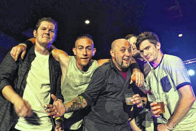 John Scott, Kevin Best, Justin Paris, Alex Hale and Ricky Coyle of the rock band Heart Means More are pictured.
