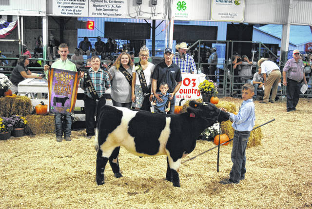 Wyatt Osborn's Reserve Grand Champion Feeder Calf Steer sold for $9 per pound Friday night at the Highland County Fair. It was purchased by The Cattle Co.